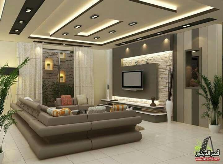جبس امبورد أسقف صالات Gypsum Emporium Ceilings Hall قصر الديكور House Ceiling Design Ceiling Design Living Room False Ceiling Living Room