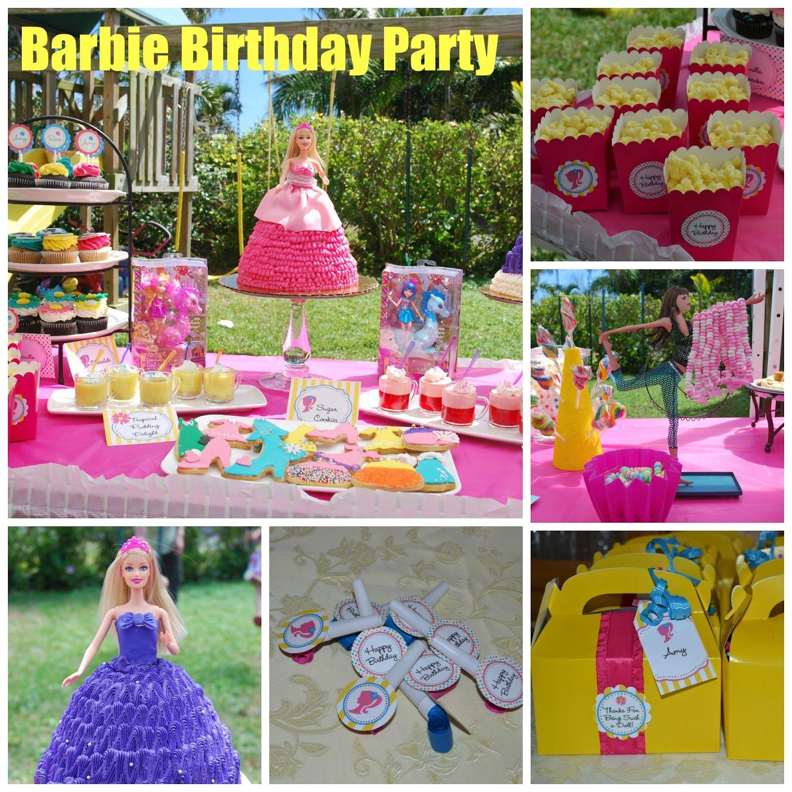 Food, Family, Fun.: Barbie Birthday Party