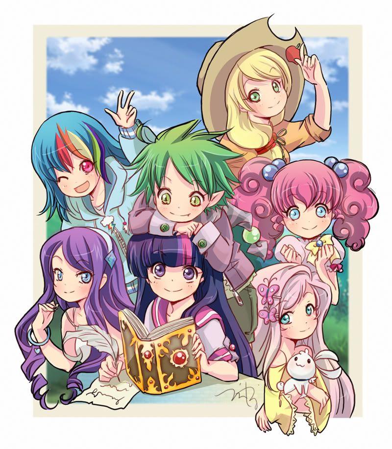 my little pony anime style! SO ADORABLE NYUUU >3 My