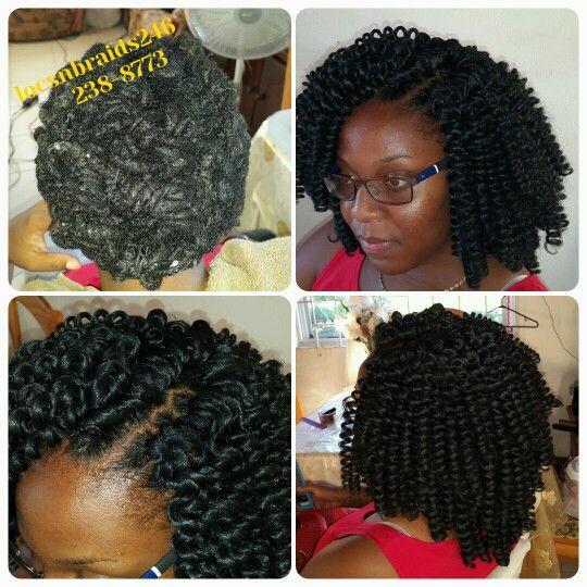 Crochet curls over locs #rep246Barbados