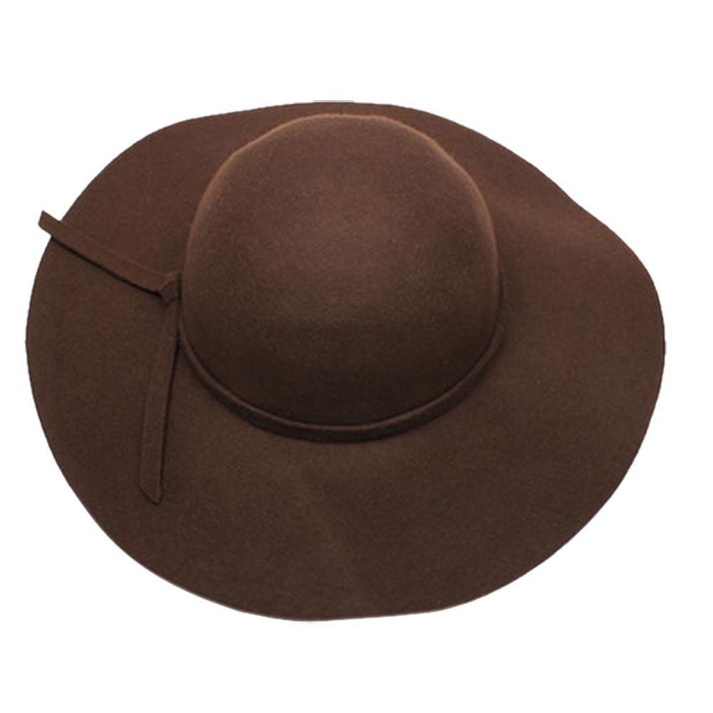 5404ca64a1154b Buy Fall- Winter Stylish Girls Retro Camel Wool Felt Hat at ...