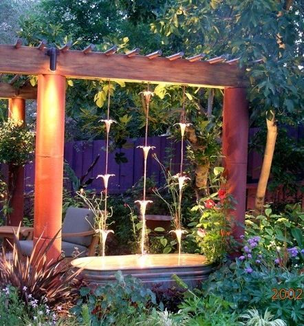 Rain chain waterfall this might just be the water feature for Garden feature ideas