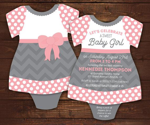 little lady baby shower invitations bodysuit invitations baby girl shower invite dress tutu pink chevron set of 10 with envelopes
