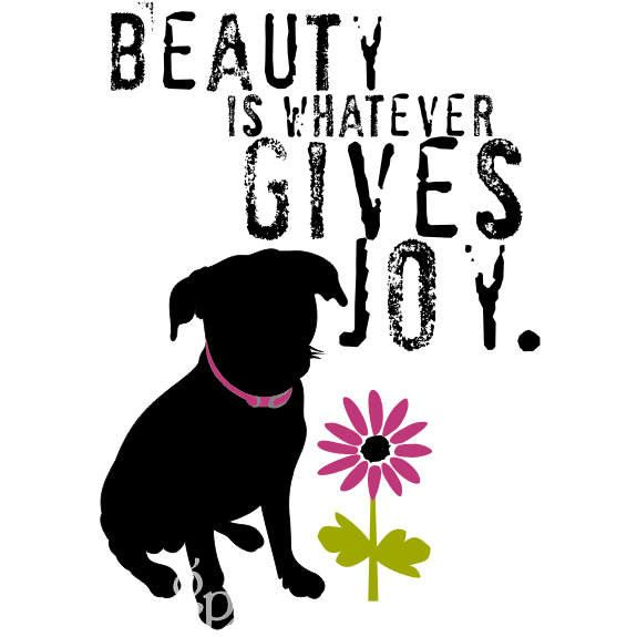 Black Mutt Inspirational Beauty Quote Dog Art by GoingPlaces2, $14.00