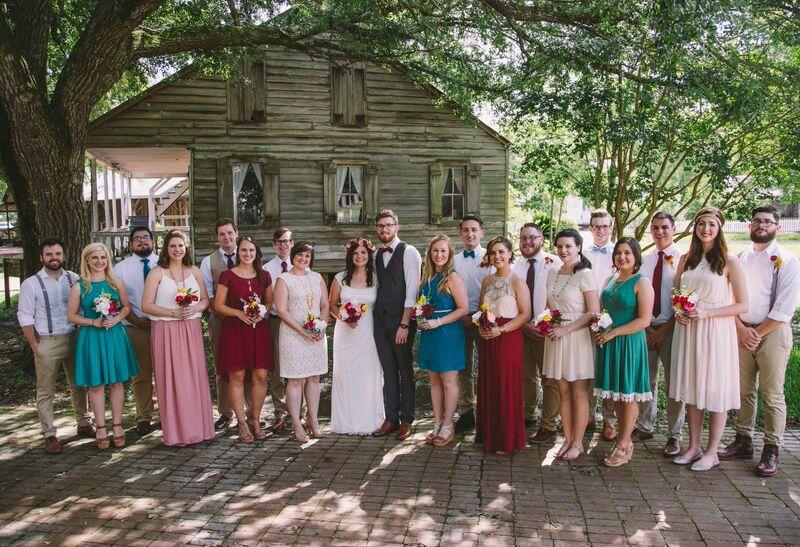 Wedding at Acadian Village, Lafayette, LA