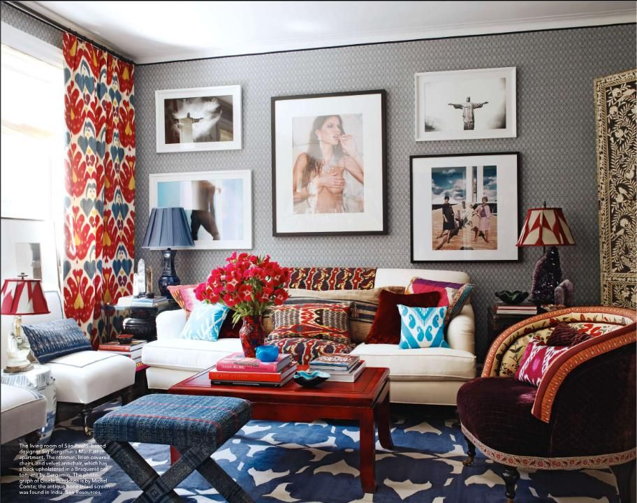 7 Rooms That Totally Rock Red White And Blue Design Asylum Blog By Kellie Smith Home Living Room Eclectic Living Room Interior