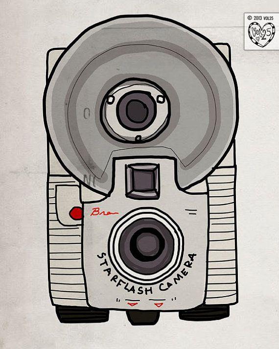 Starflash Camera Collector Series van vol25 op Etsy, $24,00