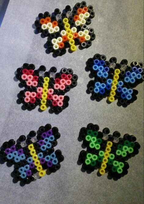 Butterflies Hama Perler Beads By Sonja Ahacarne Hama
