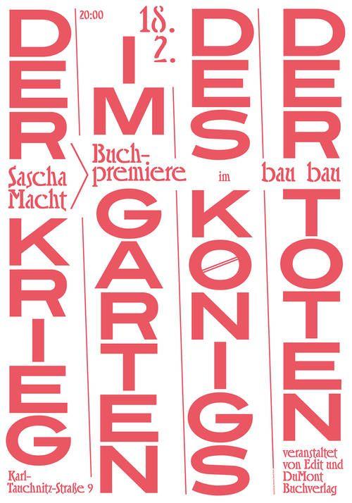 Bureau David Voss Edit Karte Sascha Macht Poster 100 Beste Plakate 500x714 Jpg 500 714 Plakat Typografie Poster