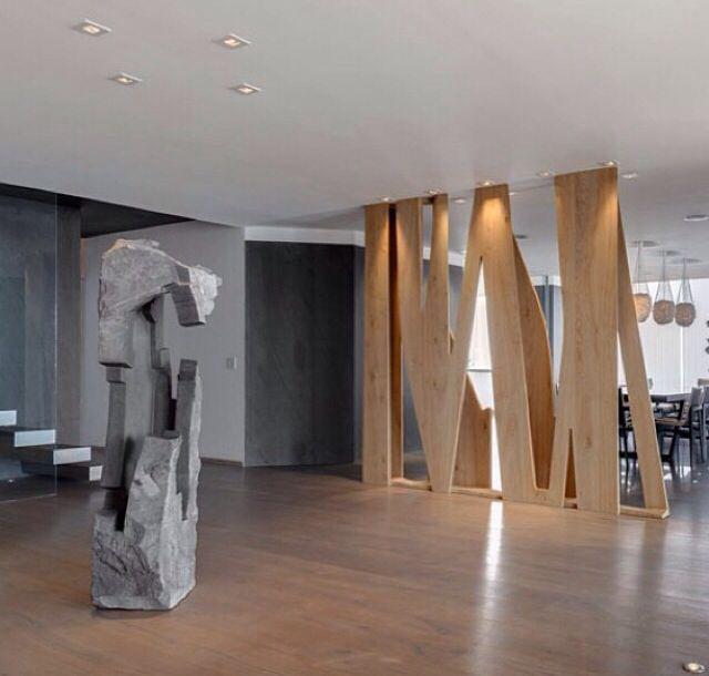 Modern Wood Screen Wall ~ Archetonic interiors creations modern design wood