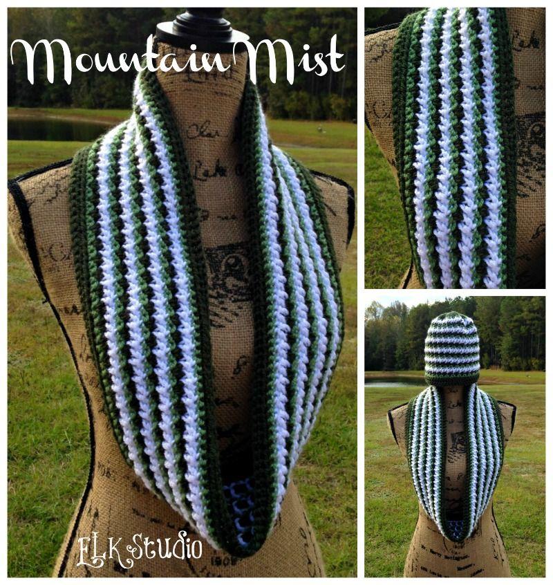 Mountain Mist - A Crochet Scarf by ELK Studio | Tejido, Gorros y ...
