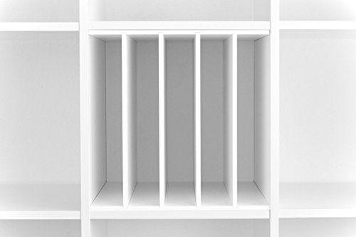 Ikea Regal Weiß schallplatten einsatz für ikea kallax regal weiß tv phonomöbel