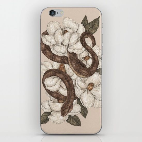 Magnolia Home Decor Homes Magnolias Snakes Draw Iphone 6 Art Print Products Trees