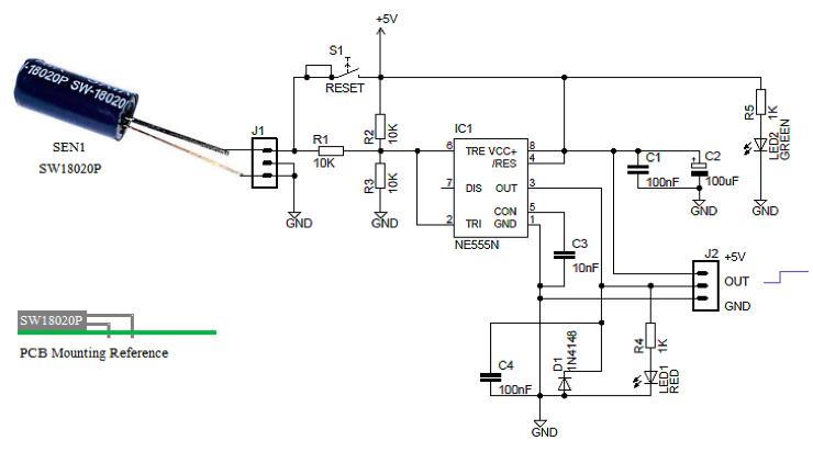 midget vibration detector