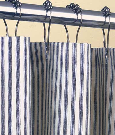 pink and white striped shower curtain. Things I Love  Grey and Blue Stripes Striped Shower CurtainsBeach maritime beach style