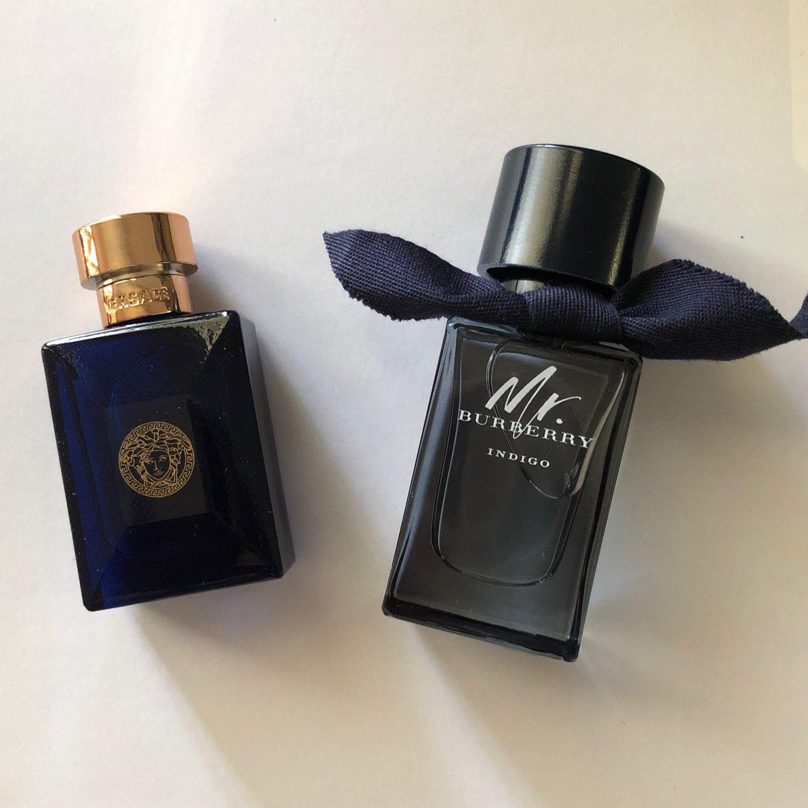 Burberry My Burberry Indigo Versace Pour Homme Dylan Blue New Travel Splash Bottle 5ml Each Men Perfume Perfume Set Perfume