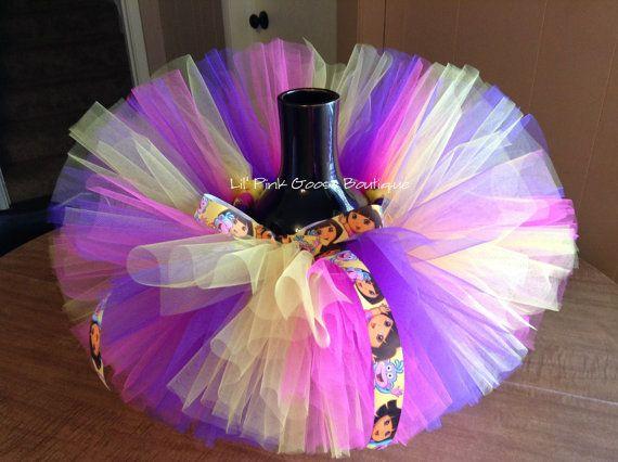 DORA BIRTHDAY Tutu Dora the Explorer Tutu Purple by LilPinkGoose, $25.95 #doratutu
