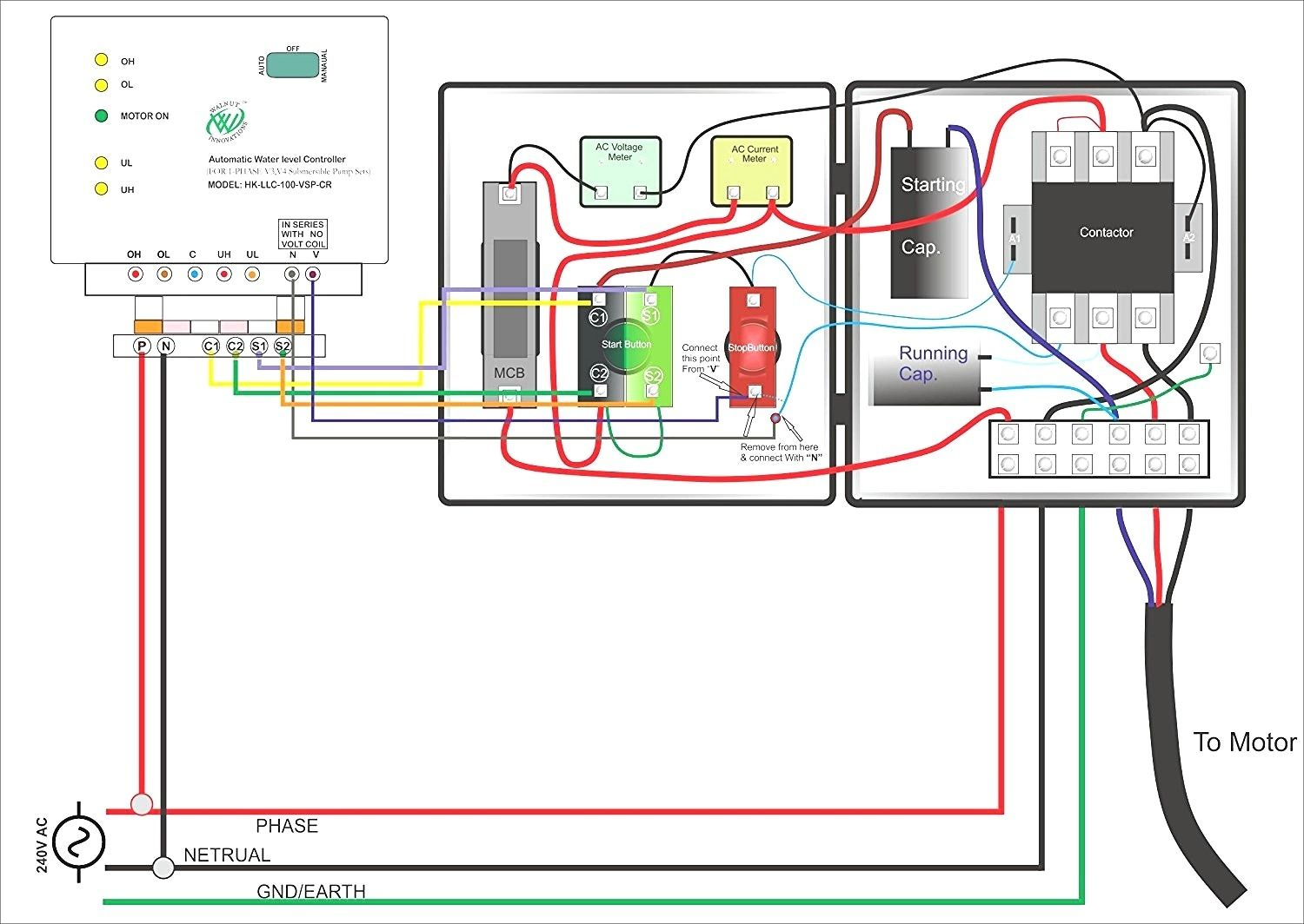 single phase submersible pump starter wiring diagram gooddy org best
