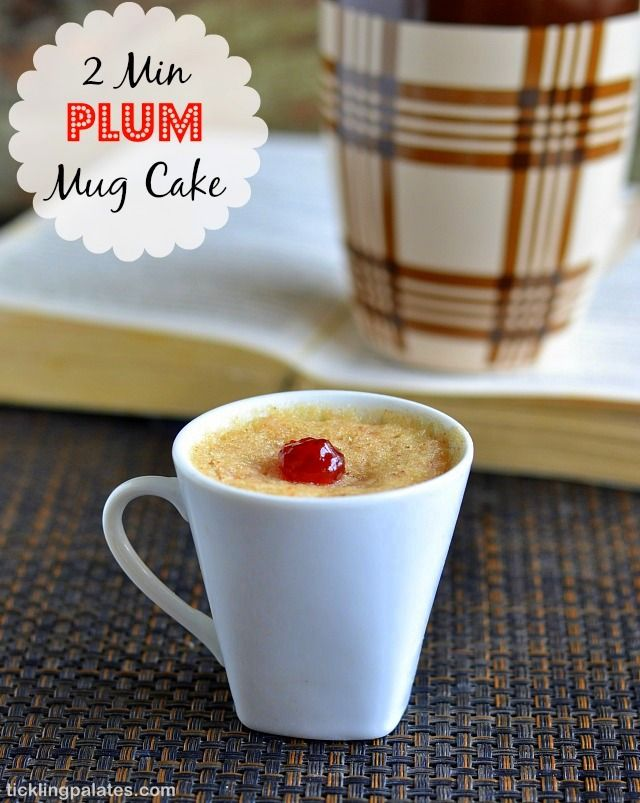 Eggless Plums Mug Cake And Brownie in Microwave   Recipe ...