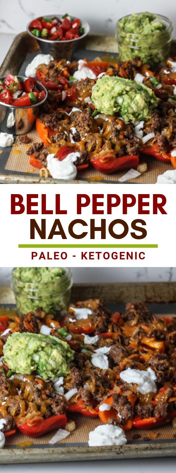Bell Pepper Nachos #paleo #ketodiet #bellpeppers