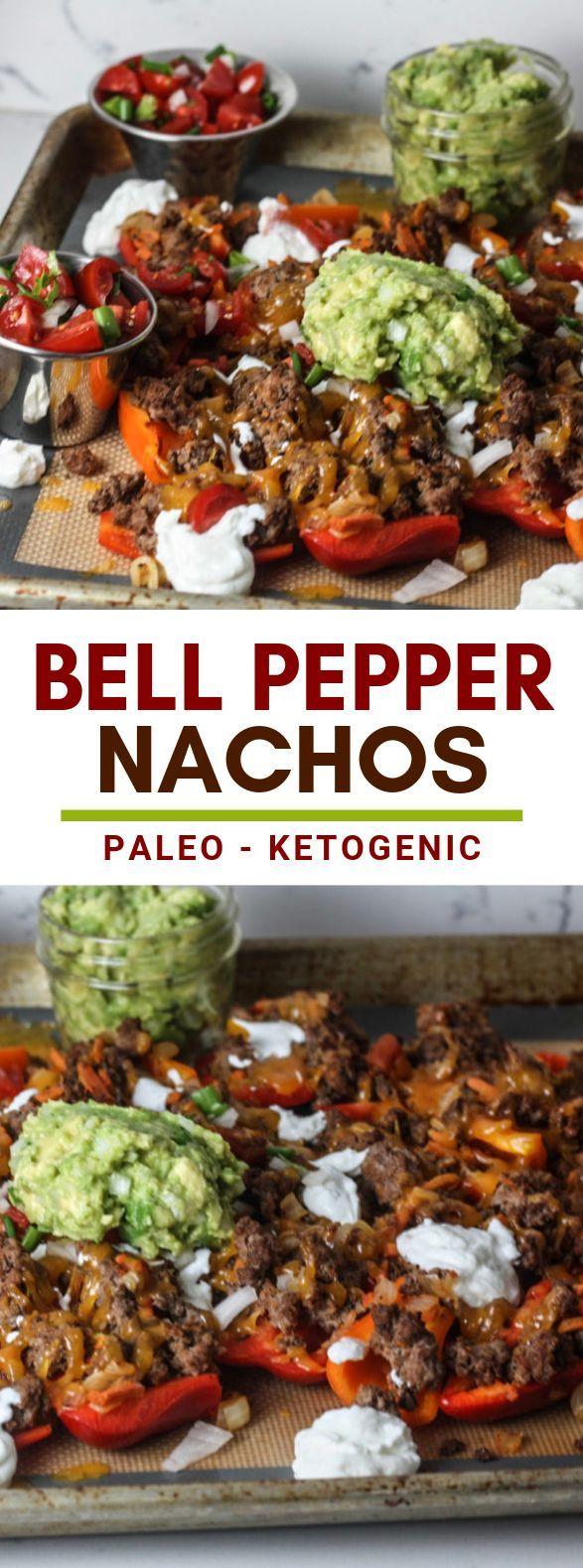 Bell Pepper Nachos #paleo #ketodiet #bellpeppers