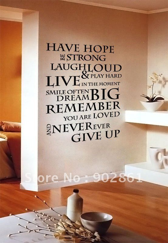 Funlife 1pc House Rule 6 Have Hope Inspirational Wall Sticker Quote Saying Decals 56x75cm In Wall Stickers F Vinyl Wall Quotes Wall Stickers Wall Stickers Uk