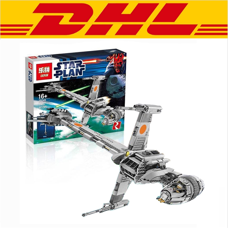 179.98$  Buy here - http://alijo2.worldwells.pw/go.php?t=32791451498 - 2017 New LEPIN 05045 1487Pcs Star War B-Wing Starfighter Model Building Kits Blocks Bricks Compatible Toys Gift 10277 179.98$