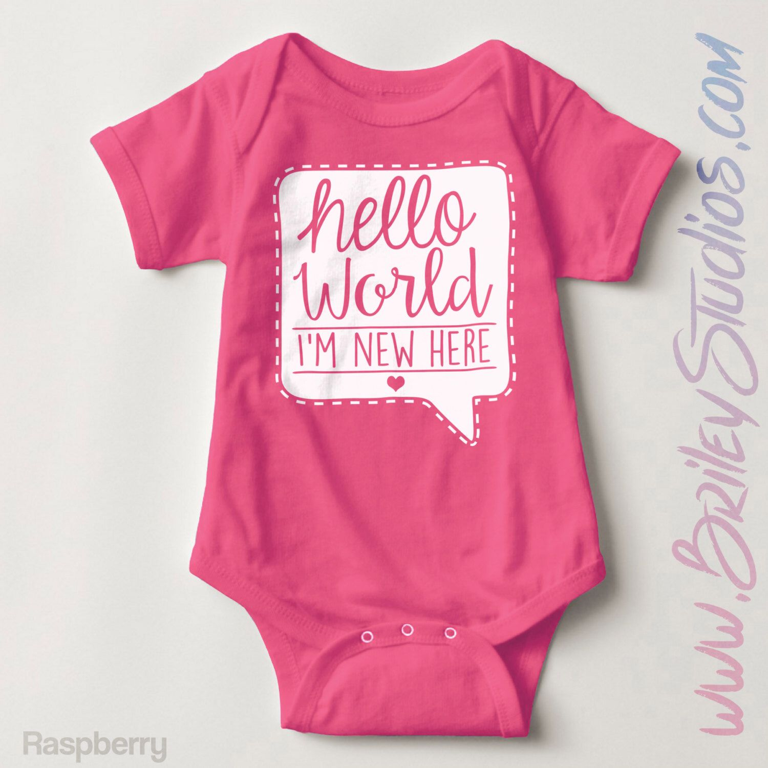 05ee40ee7 Hello World I m New Here Newborn Baby Outfit