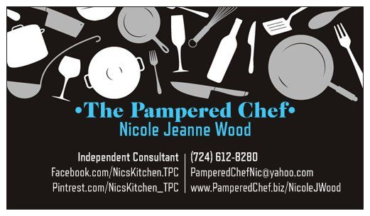 Nic S New Pampered Chef Business Cards Join My Team