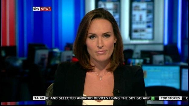 Sky news female presenter redhead