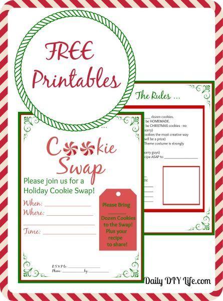 Cookie Swap Planning Free Printables Celebrate Christmas