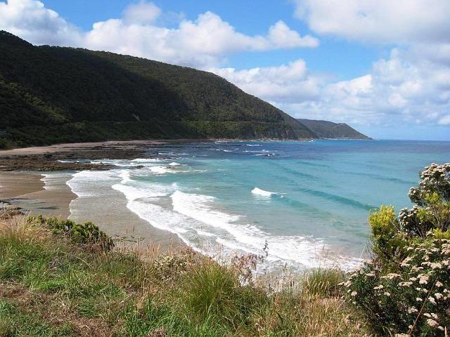 Beautiful beach beside the Great Ocean Road