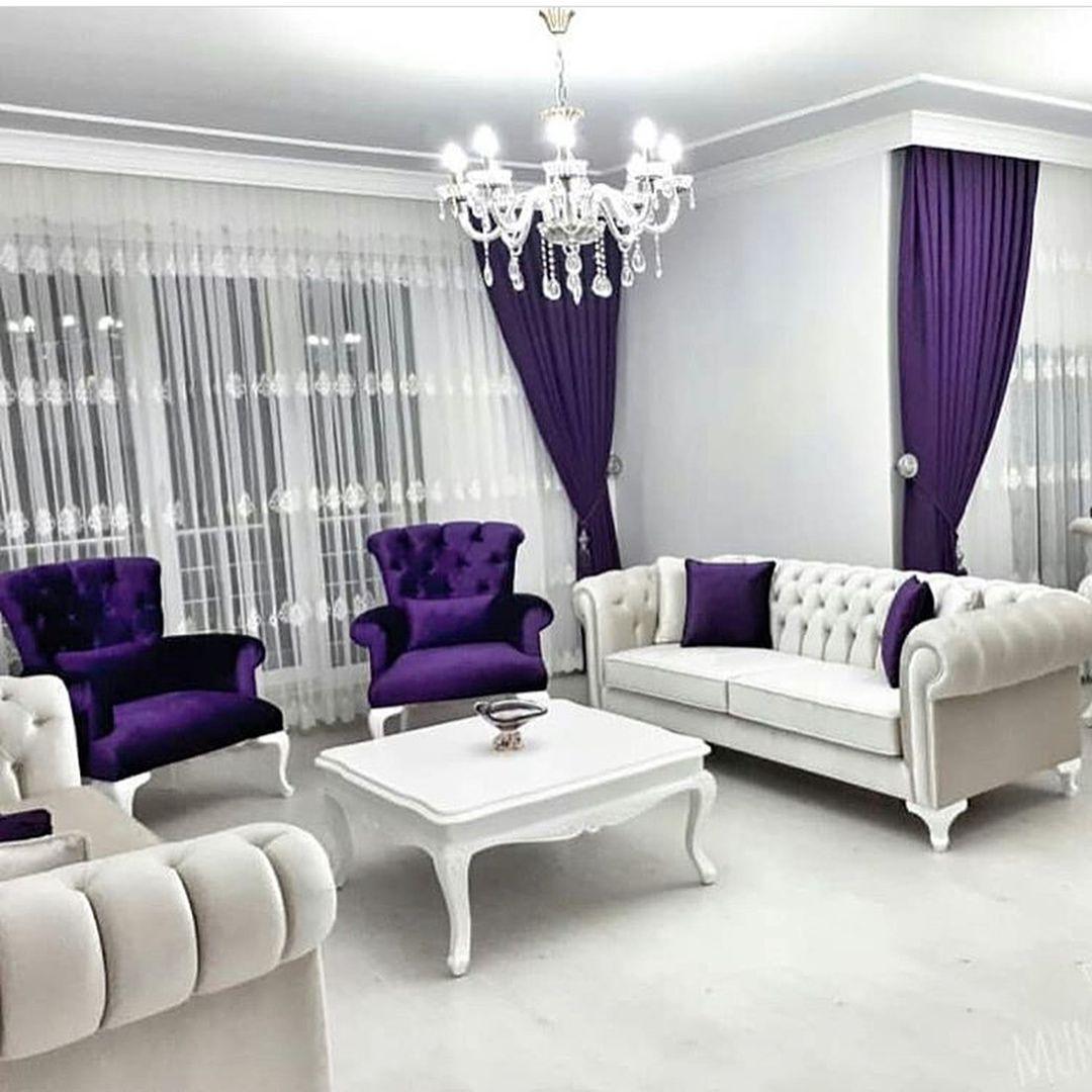 Dekor Duzen Mutfak Su Instagram Krem Mor Uyumu Harika Sizce Nasil Yorumlarinizi Bekliy Minimalist Living Room Luxury Living Room Design Home Living Room