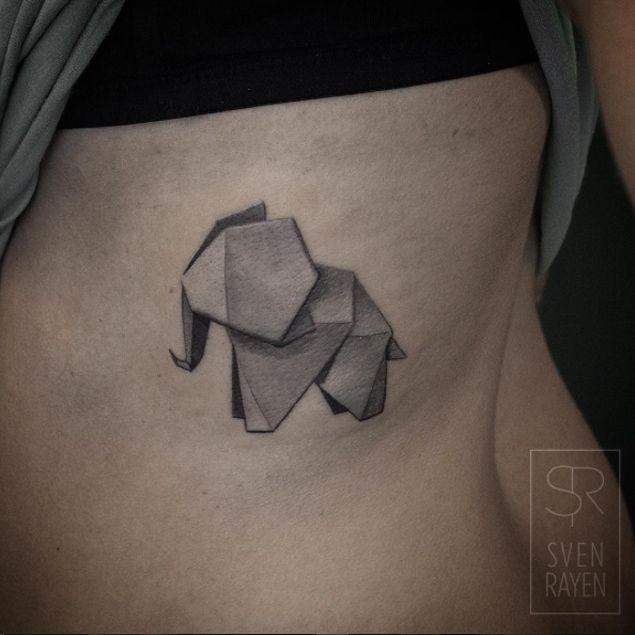 origami elephant tattoo tattoo tattoo ideen t towierungen und tattoo zeichnungen. Black Bedroom Furniture Sets. Home Design Ideas