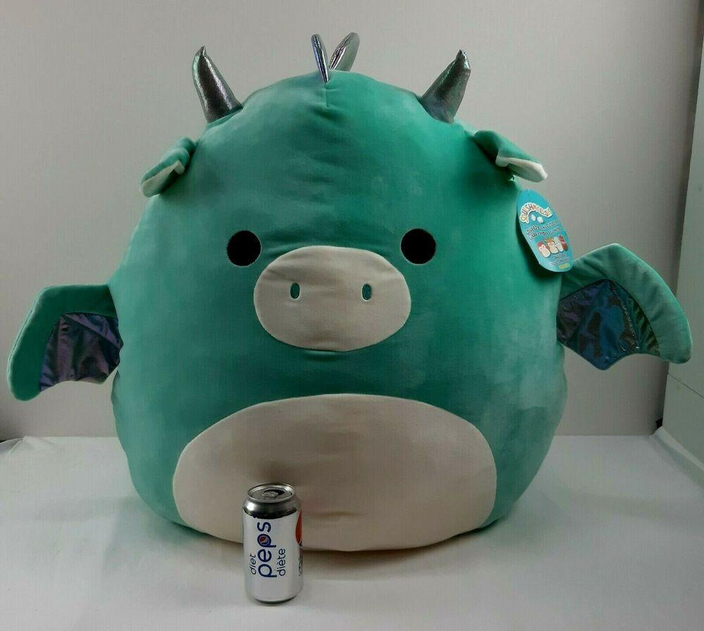 Huge Squishmallows Jumbo Xl Miles The Dragon 24 Kellytoy Big Boy New Kellytoy Plush Dragon Big Boys