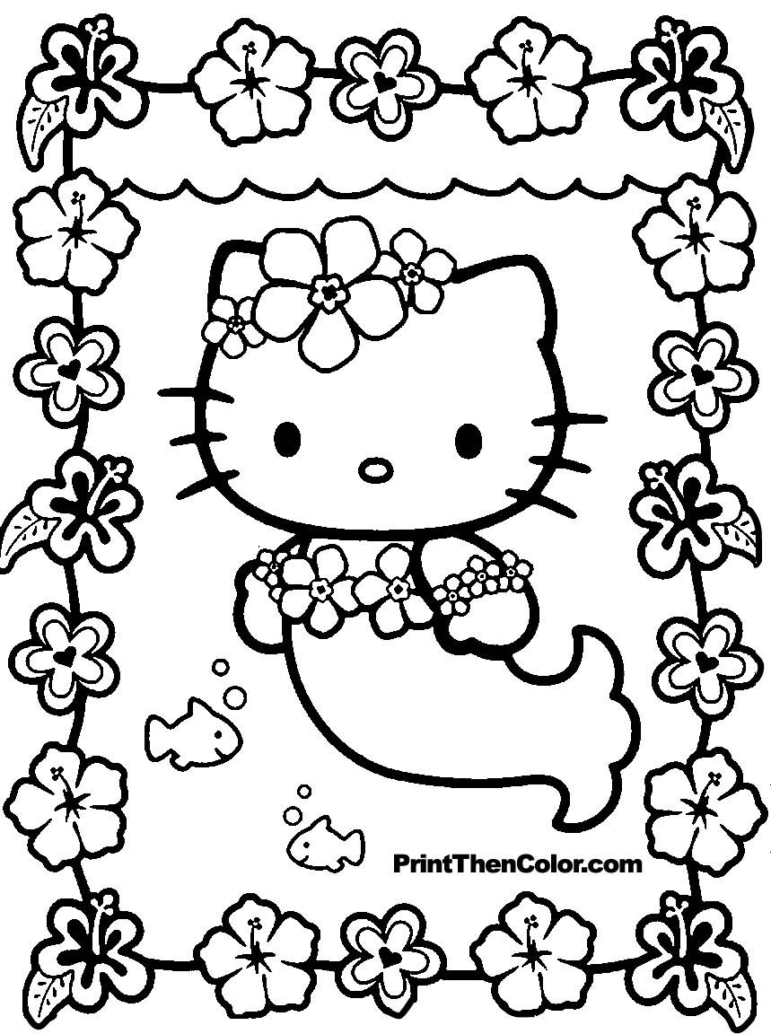 Print Coloring Pages Free Hello Kitty Coloring Page Of Hello