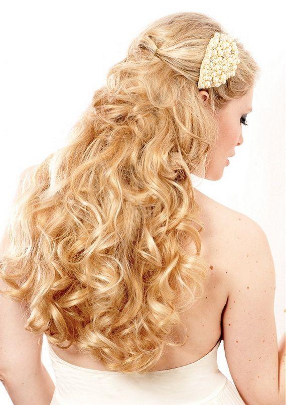 Wedding Hairstyles For Long Hair Half Up 2012 Hochzeitsfrisuren Lange Zopfe Brautfrisur