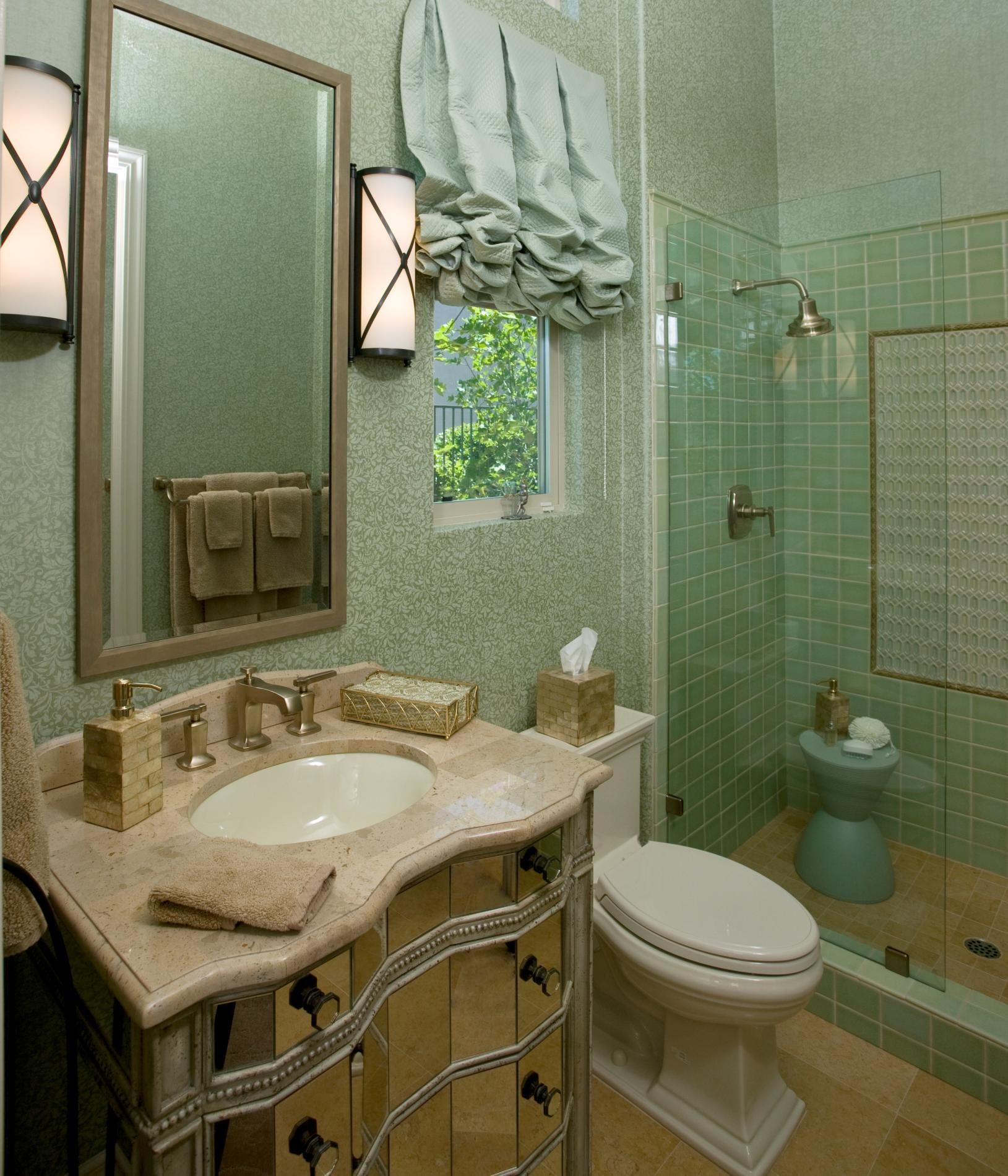 Guest Bathrooms Peg Berens Interior Design Llc Residential Remodel Hollywood Guest