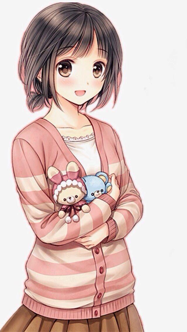 This is sasha, she's 14 years old, likes kawaii stuff & reads manga alot. Despite her cute look, she's stubborn sometimes, but she's very helpful & kind.