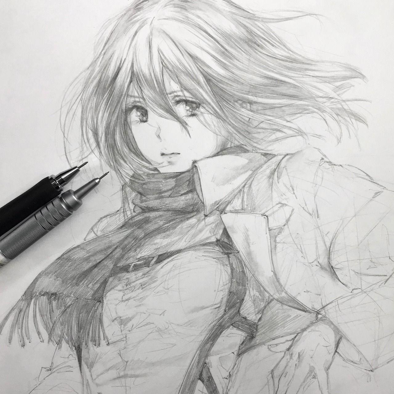 "artbyshinji ""Mikasa Ackerman "" Mikasa Ackerman"