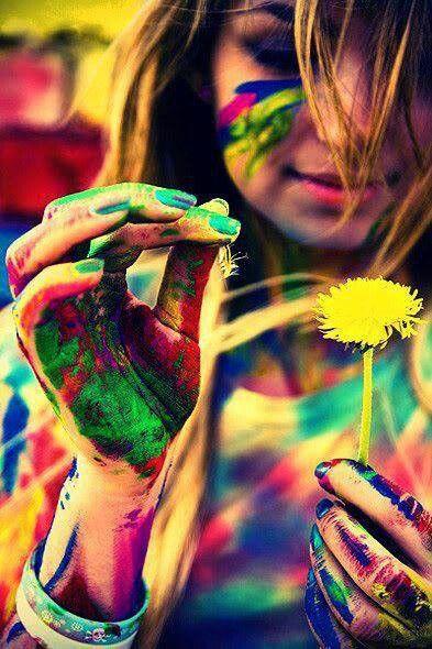 Peace Love Unity And Respect Holi Colors Senior Photography Photoshoot