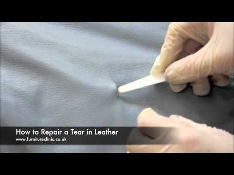 Repairing a tear in leather - patching, filling, recoloring ...