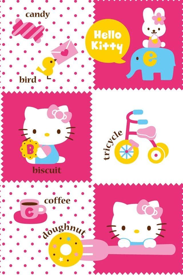 Cute Hello Kitty Little Head IPhone Wallpapers 640x960 IPod 27