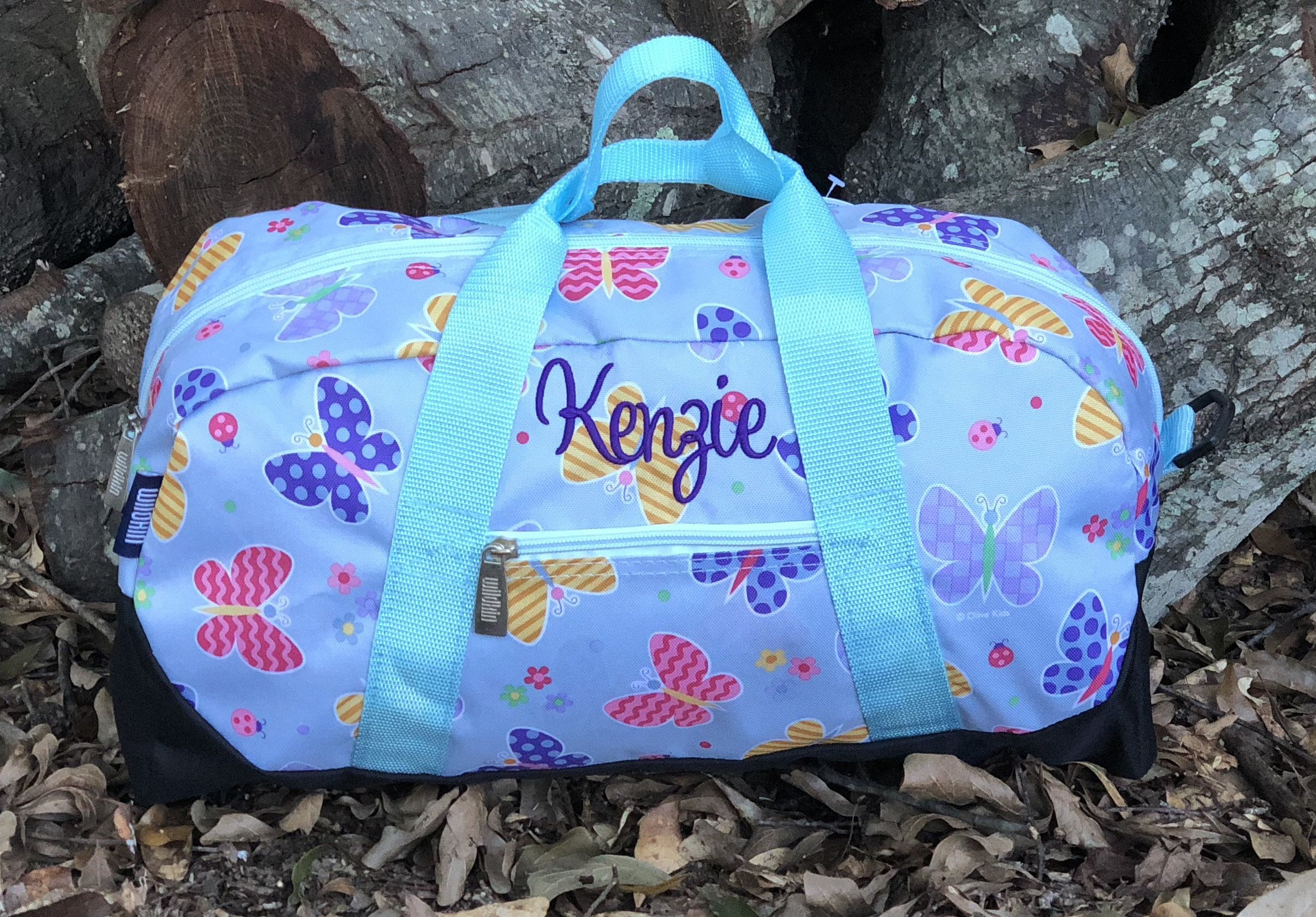 Personalized Girls Luggage Butterfly Sleepover Bag Kids