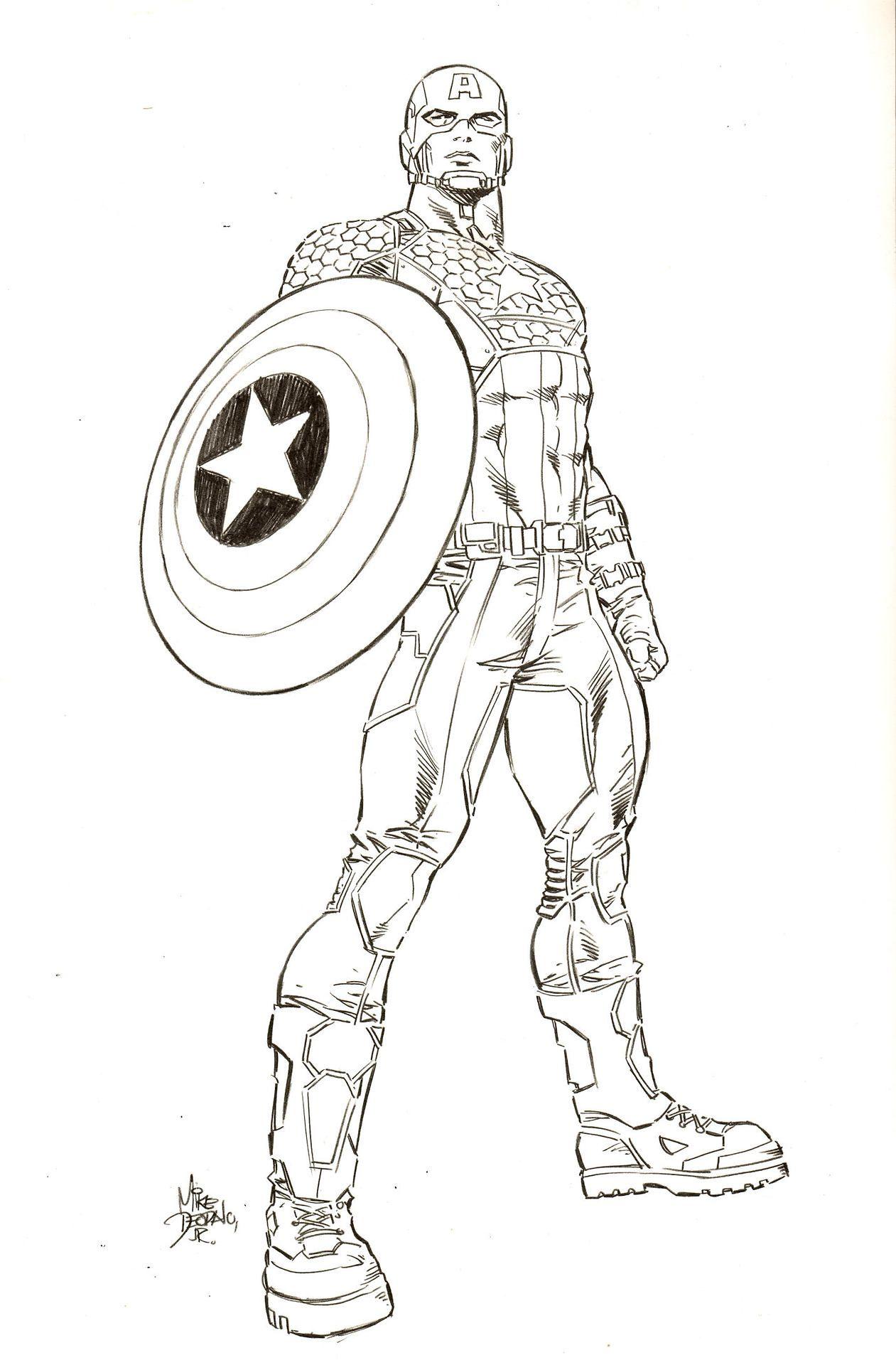 Mike Deodato Jr Captain America Pencils Captain America Art Comic Book Artwork Captain America