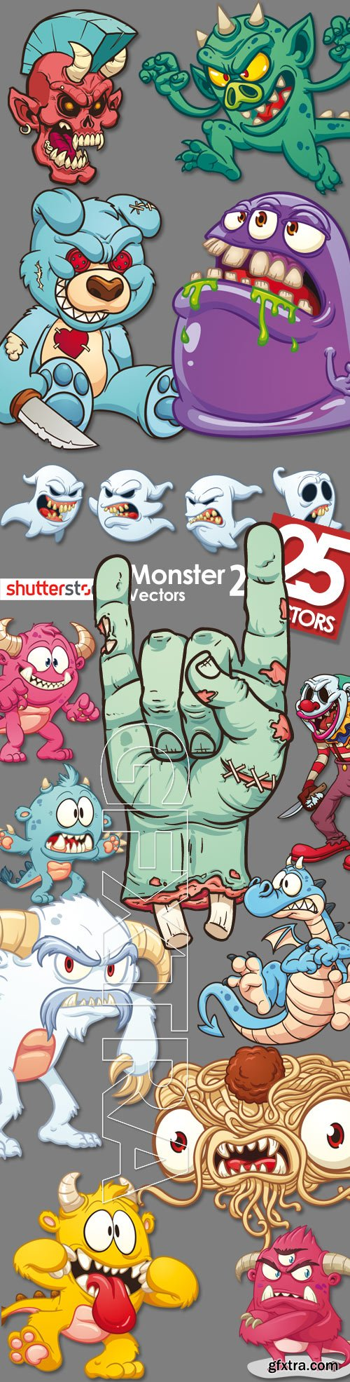 T shirt design 7 25xeps - Monster Vectors 2 25xeps T Shirtvectorsmonsters