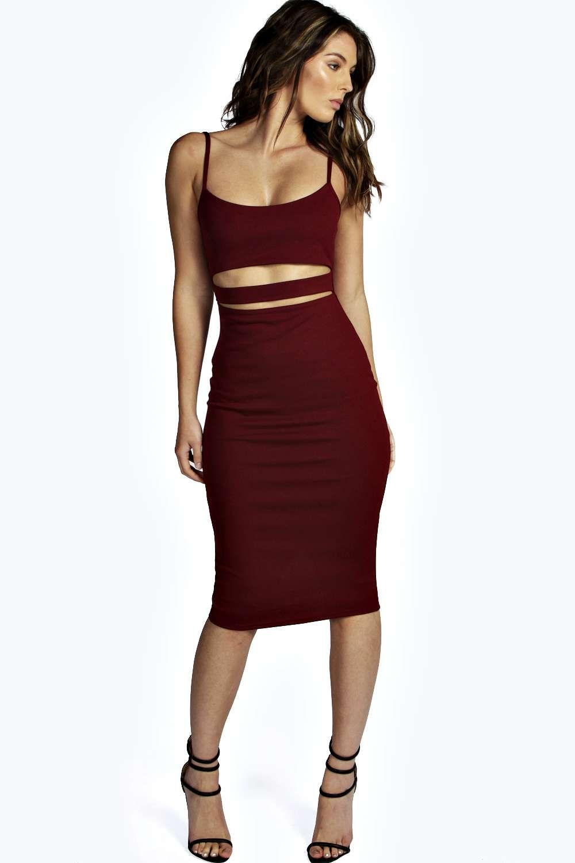 8241eebf7775c Tanya Strappy Cut Out Midi Dress alternative image