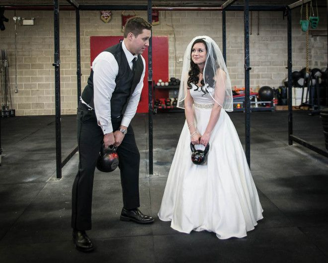 Katie And Sean Found Time To Get In A Pre Wedding Workout At Crossfit 204 Gym