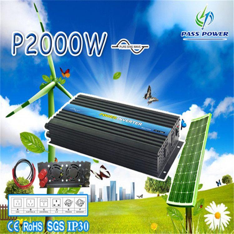 Dc 12v 24v 48v To Ac 100v 120v 220v 240v 2000w 2kw Pure Sine Wave Portable Inverter Boat Inverter Caravan With Images Solar Power Inverter Solar Power Kits Solar Power Diy