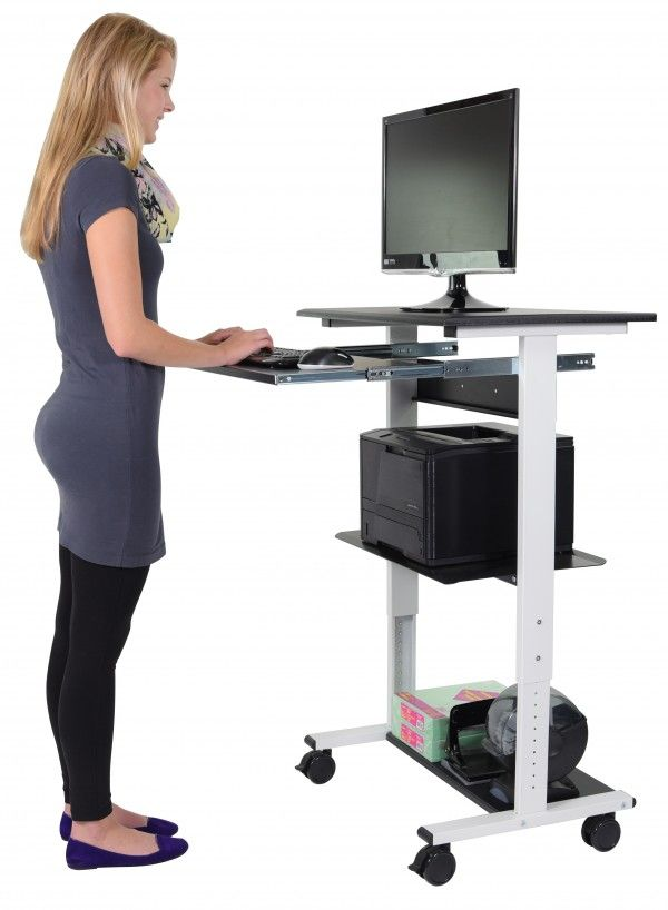 Mobile Standing Computer Workstation Keyboard Tray Standing Computer Workstation Computer Workstation Computer Stand